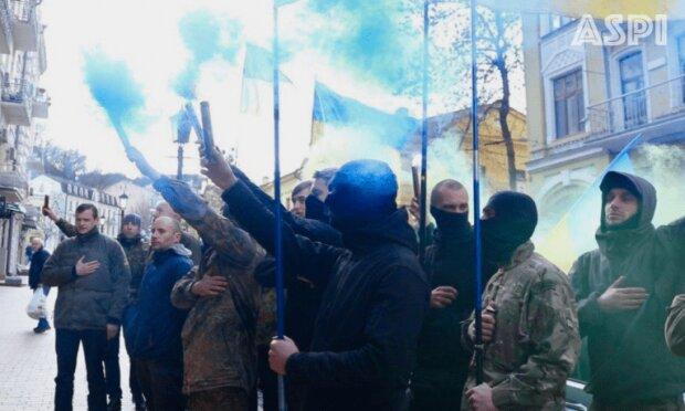 акция протеста АТОшников, фото: aspi.com
