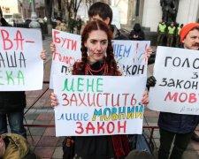 акція на підтримку закону про мову
