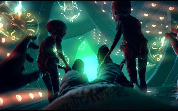 зустріч людей з прибульцями