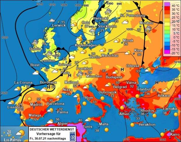 Погода в Україні 30 Липня, фото: Facebook