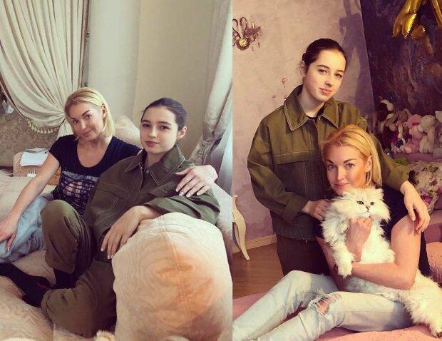 Анастасія Волочкова з донькою