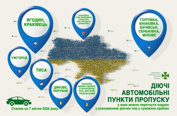 Діючі автомобільні пункти пропуску, фото: dpsu.gov.ua