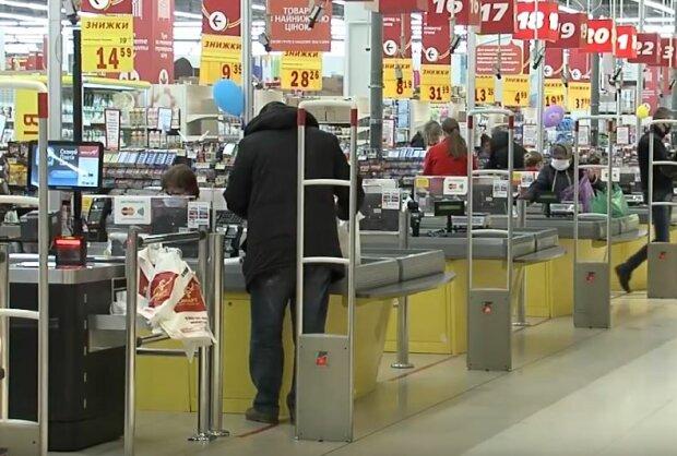 Черга в супермаркеті, фото: YouTube