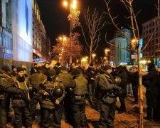 Протест С14 у Києві біля будинку профспілок
