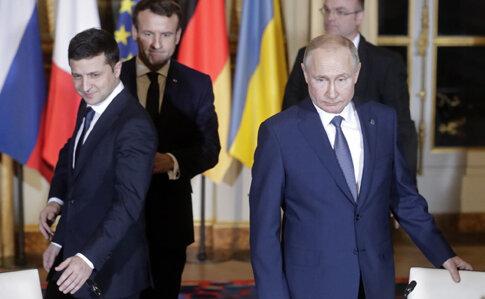 Зеленський і Путін, фото прес-служб
