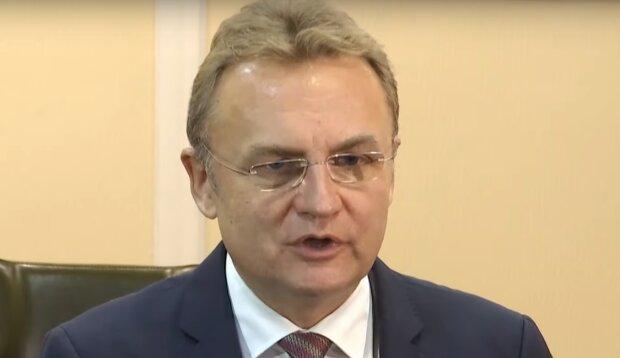 Садовой, мэр Львова, скриншот с видео