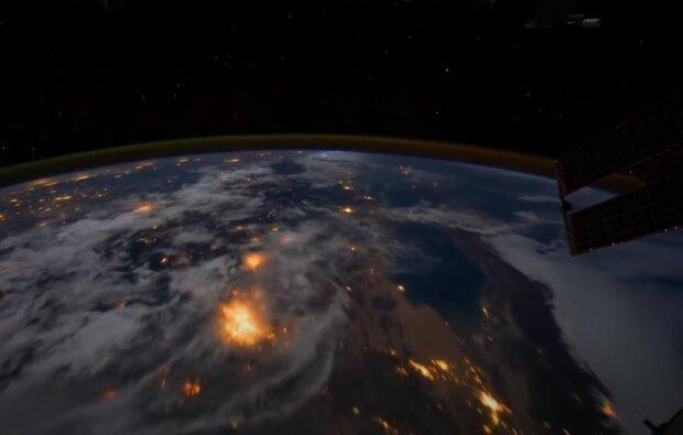 Вид з МКС, скріншот: YouTube