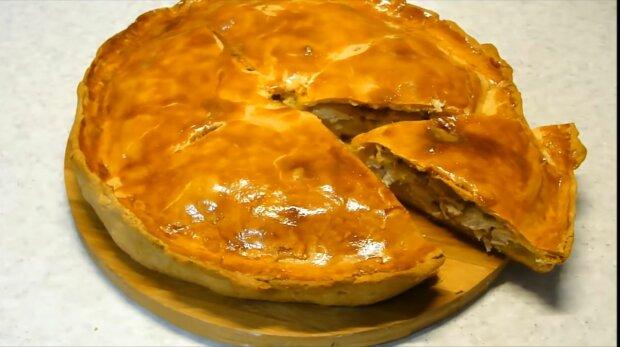 Сочный пирог с курицей вкуснее пиццы - пошаговый рецепт