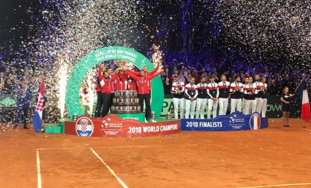 Вендетта по-балкански: сборная Хорватии выиграла Кубок Дэвиса, победив французов
