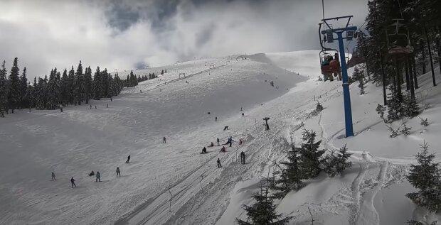 горнолыжный курорт, скриншот с видео