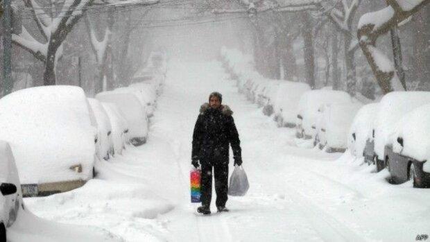Снегопад парализовал Европу, фото Слово и дело