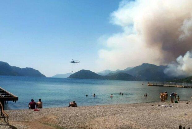 лесной пожар в Турции, фото: ntv.com.tr