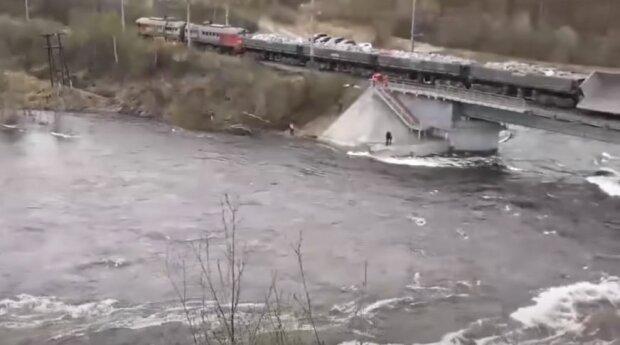 Обвал мосту, скріншот: YouTube
