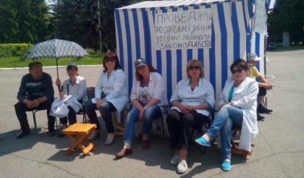 Врачи Сумщины обьявили голодовку и пошли пешком в Киев