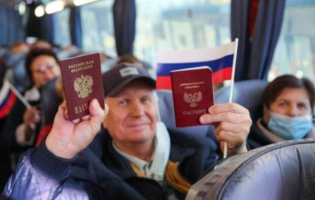 Жителей оккупированного Донбасса везут на выборы в РФ, фото: новости страны / Телеграмм