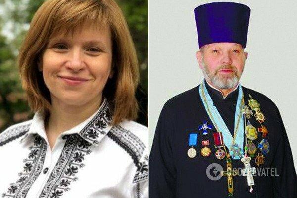 Любомира Мандзій і її батько Степан Хомин, фотоколаж - Оbozrevatel