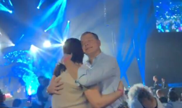 Ляшко та його дружина, скріншот з відео
