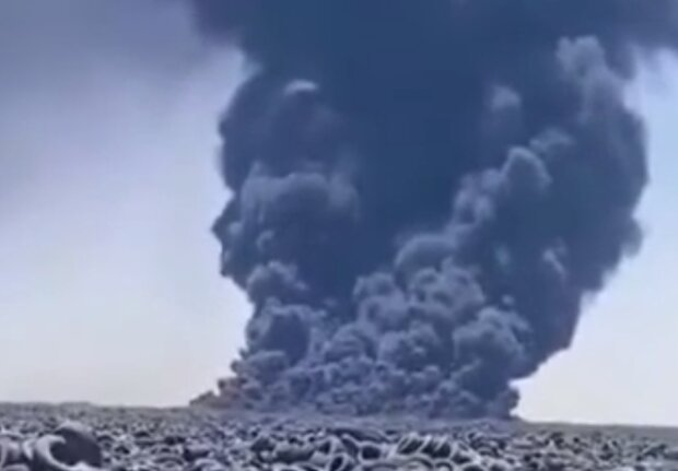 Масштабна пожежа у Кувейті, кадр з відео