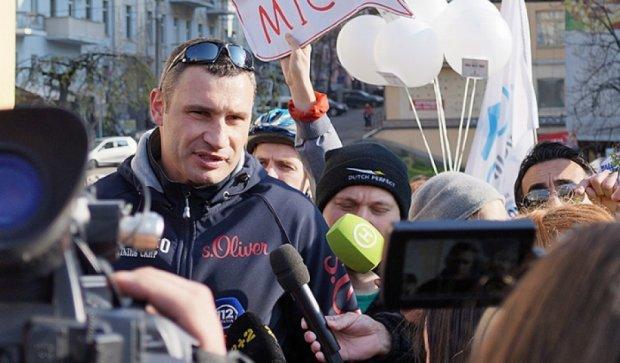 """Кличко """"примазався"""" до велосипедистів (фото)"""