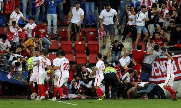 В Испании обвалился стадион во время празднования гола