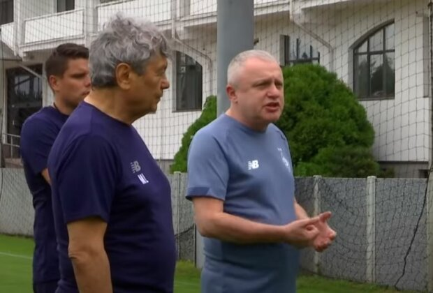 Мирча Луческу и Игорь Суркис, скриншот видео