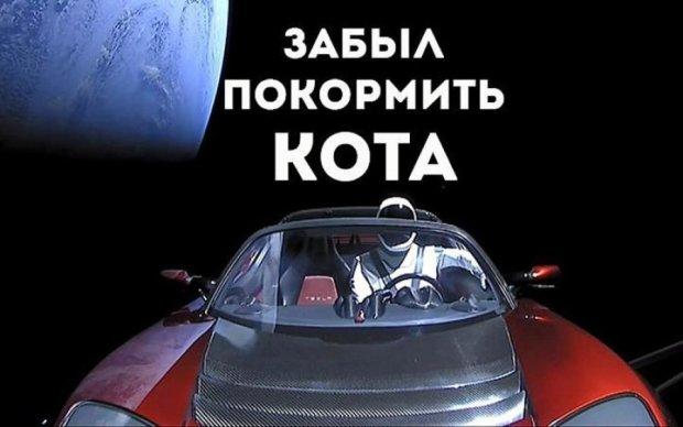 Як позбутись трупу колишньої: меми та жарти про запуск Falcon Heavy