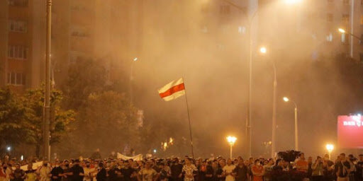 Протесты в Беларуси, скриншот