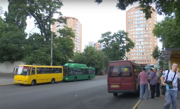 маршрутки Дніпра, скріншот з відео