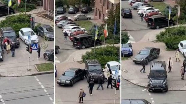 """В Киеве дочь врезалась в машину отца, все закончилось дракой: """"Ездить не купили?"""""""