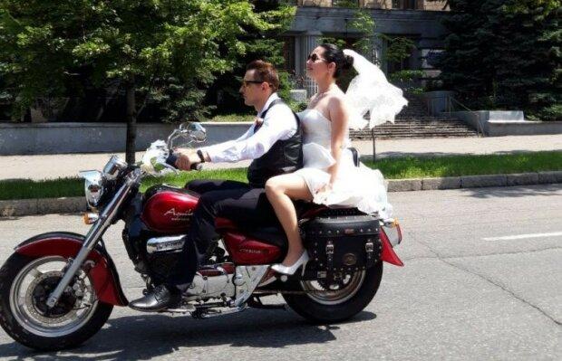байкерская свадьба, фото: Индустриалка