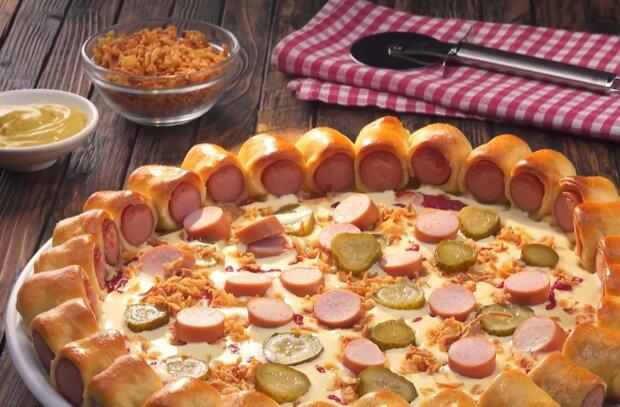 Пицца с краешком, кадр из видео