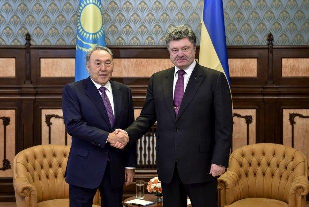 Петро Порошенко і Нурсултан Назарбаєв