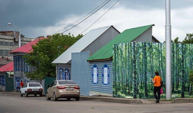 В Уфе приготовили фейковые дома и деревья к саммиту БРИКС (фото)