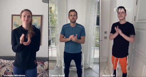 Дэвид Бекхэм, Диего Марадона, Роналду - известные футболисты записали трогательное видео в поддержку медиков