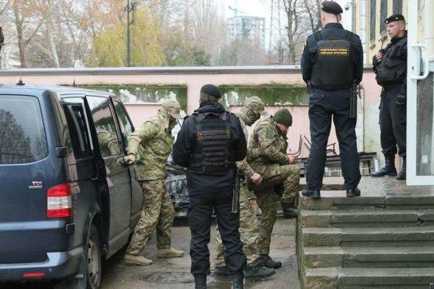 захваченные украинские моряки
