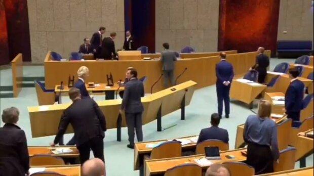 парламент Нідерландів, скріншот з відео
