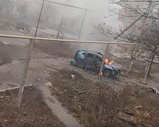 Вибух під Донецьком, скріншот: You Tube
