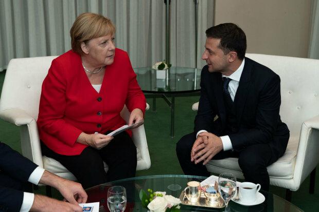 Владимир Зеленский и Ангела Меркель, фото ОПУ
