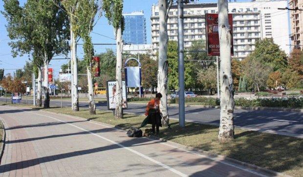 Безлюдні вулиці окупованого Донецька (фото)