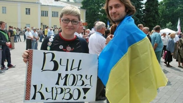 митинги за государственный язык, фото из свободных источников