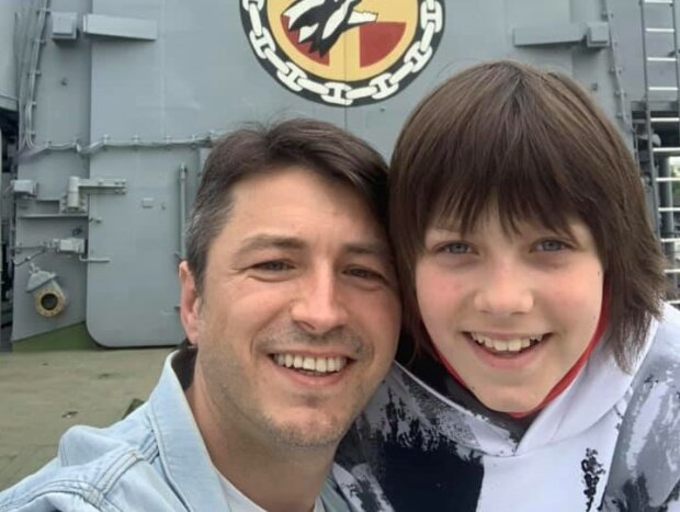 Сергей Притула с сыном, фото из фейсбук