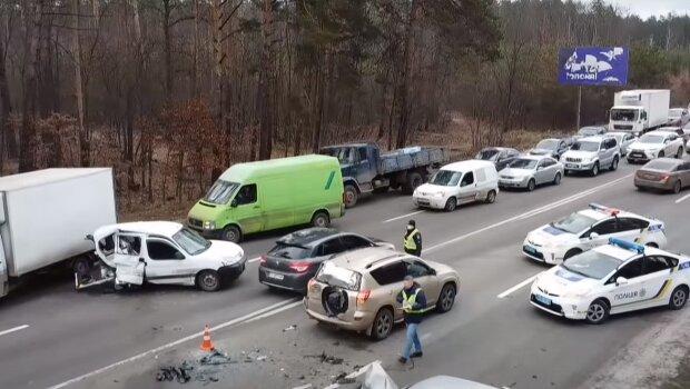 Аварія в Україні, скріншот: Youtube