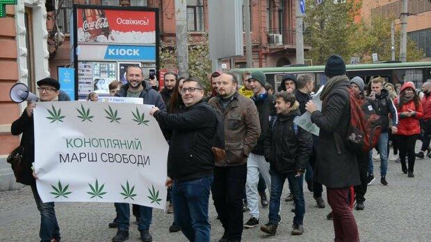 "Нардепы из ""Слуги народа"" приняли участие в акции за легализацию каннабиса: видео"