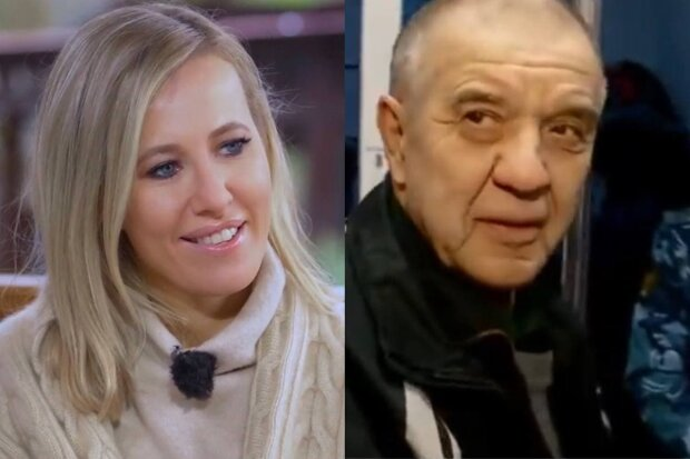 Ксения Собчак и Виктор Мохов / скриншот из видео