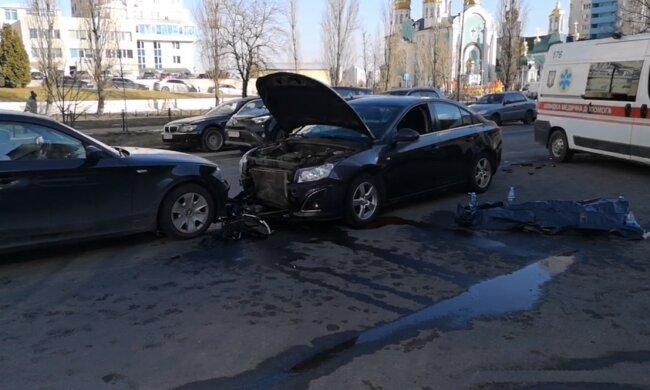 ДТП у Києві, скріншот з відео