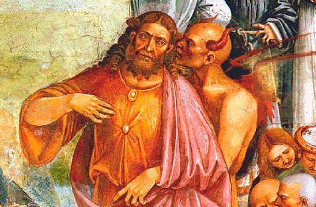 Антихрист и дьявол (фреска Луки Синьорелли)