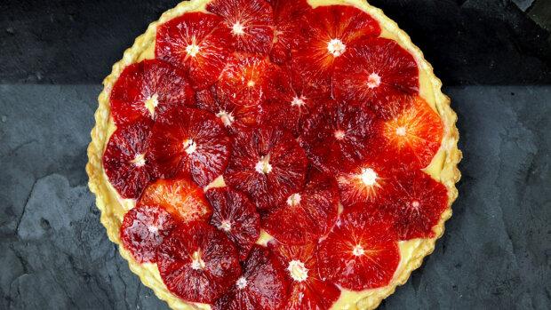 Новий рік 2019: криваво-червоний апельсиновий тарт