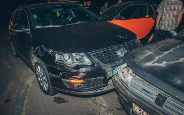 Пьяный киевлянин раскрошил 7 авто и пошел баиньки
