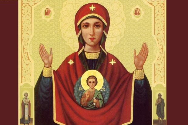 """Икона """"Знамение"""", фото: Азбука веры"""