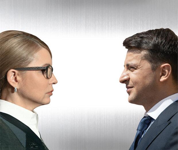 Юлия Тимошенко и Владимир Зеленский, иллюстрация: УНИАН, Getty Images